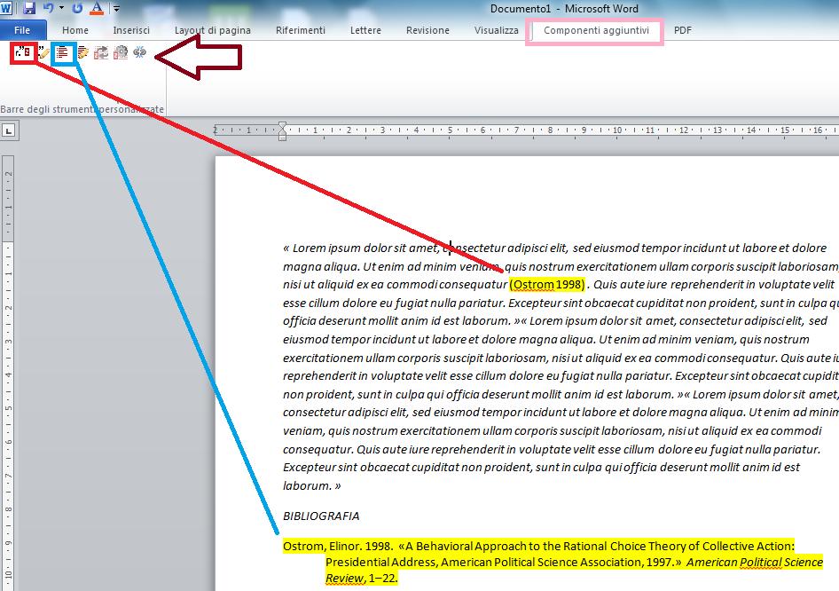 i componenti aggiuntivi negli editor di testo