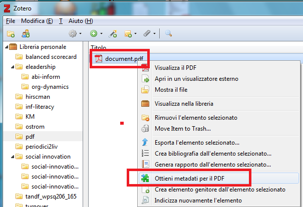 zotero: estrarre bibliografia da un file pdf