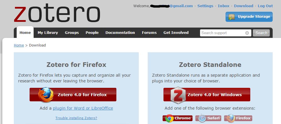 immagine che rappresenta le possibilità d'uso di Zotero
